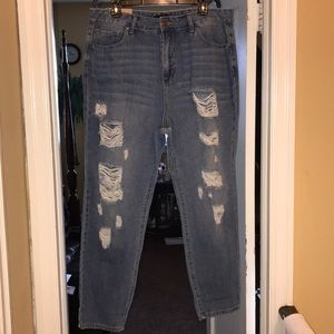 NWT Forever 21 boyfriend ripped Jeans